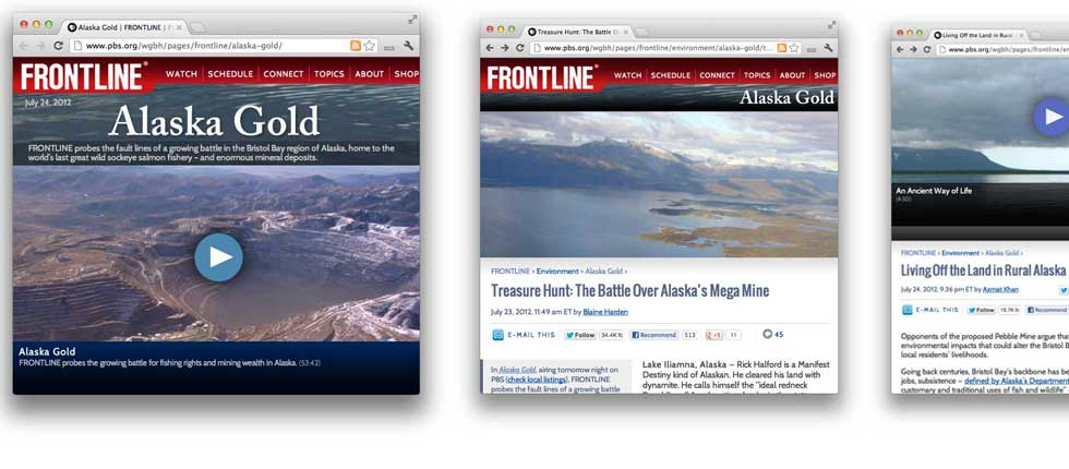 FRONTLINE (PBS program)  Videos and Articles on Pebble Mine